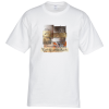 Hanes Tagless 6.1 oz. T-Shirt - Full Color - White