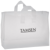 """Soft-Loop Frosted Clear Shopper - 12"""" x 16"""""""