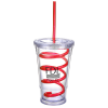 Slurpy Tumbler with Crazy Straw - 16 oz.