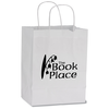 White Kraft Recycled Paper Shopping Bag - 10-1/2