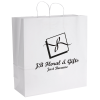 White Kraft Paper Shopping Bag  - 18-3/4