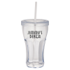 Fountain Soda Tumbler w/Straw - 16 oz. - 24 hr