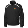 Shoulder Accent 1/2 Zip Sport Wind Shirt  - #117288
