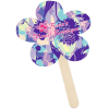 Mini Hand Fan - Flower - Full Color