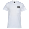 Hanes Nano-T 4.5 oz. Pocket T-Shirt - White