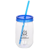 Fiesta Mason Jar w/Straw - 22 oz. - 24 hr