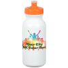 Full Color Sport Bottle w/Push Pull Cap - 20 oz. - White