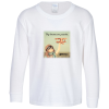 Gildan 5.3 oz. Cotton LS T-Shirt - Youth - Full Color -White