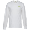 FOL Long Sleeve 100% Cotton T-Shirt - White - Embroidery