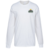 Gildan Ultra Cotton Heavyweight LS Tee - White - Embroidery