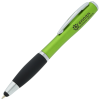 Curvy Stylus Pen w/Flashlight