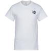 Gildan 6.1 oz. Ultra Cotton Pocket T-Shirt - White - Emb