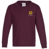 5.2 oz. Cotton Long Sleeve T-Shirt - Youth - Embroidery