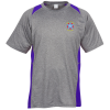 Heather Challenger Colorblock Tee - Embroidery