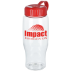 Clear Impact Comfort Grip Sport Bottle w/Tethered lid-27 oz.