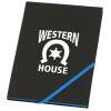 Neon Angled Elastic Notebook - 8-3/8