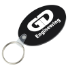 Oval Soft Key Tag - Opaque