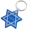 Star of David Soft Key Tag - Opaque