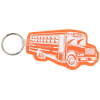 School Bus Soft Key Tag - Translucent