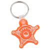 Sheriff Badge Soft Key Tag - Translucent