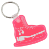 Figure Skate Soft Key Tag - Translucent