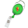 Clip-On Retractable Badge Holder - Translucent - Full Color