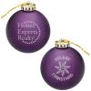 Satin Round Ornament - Snowflake - Merry Christmas