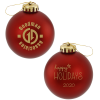 Satin Round Ornament - Happy Holidays