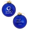 Satin Round Ornament - Merry Christmas