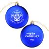 Satin Flat Ornament - Merry Christmas