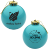 Round Shatterproof Ornament - Snowflake - Happy Holidays