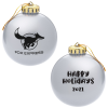 Round Shatterproof Ornament -  Happy Holidays