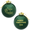 Round Shatterproof Ornament - Merry Christmas