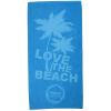 Tone on Tone Stock Art Towel - Love the Beach