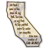 Flat Flexible Magnet - State - California - 30 mil