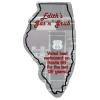 Flat Flexible Magnet - State - Illinois - 30 mil