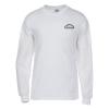 Gildan Ultra Cotton LS T-Shirt - Men's -White -Screen- 24 hr