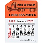 Peel-n-Stick Calendar - Semi Truck