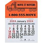 Peel-n-Stick Calendar - Semi Truck