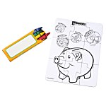 Coloring Puzzle & Crayons - Bank