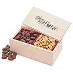 Wooden Box w/Almonds & Cashews