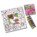 Picture Me Coloring Magnet Frame - Flowers