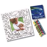 Picture Me Coloring Magnet Frame - Ocean