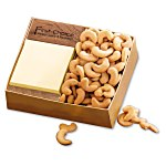 Walnut Post-it® Note Holder w/Cashews
