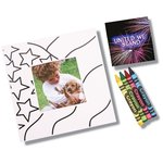 Picture Me Coloring Magnet Frame - Flag