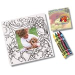 Picture Me Coloring Magnet Frame - Food