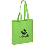 Gusseted Cotton Sheeting Tote - Color