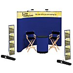 Deluxe Curved Floor Display - 10' - Header - Kit