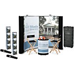 Deluxe Curved Floor Display - 10' - Mural Center - Kit