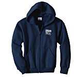 Hanes ComfortBlend Full-Zip Sweatshirt - Youth - Screen
